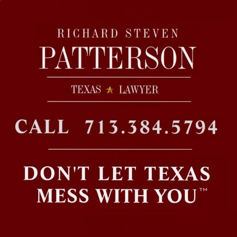 Call (713) 384-5794 • Charged with a crime in Texas? Then you need an experienced Texas criminal defense attorney. Affordable fees.• Richard Steven Patterson • Texas Lawyer • Houston, Harris County, Texas